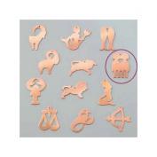 Copper Pendant Gemini Astrological Sign, 30 x 20 mm, Outline Cold Efcolor Enamelling