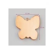 Copper Butterfly 22 x 22 mm, Pendant Outline Cold Efcolor Enamelling