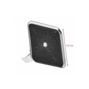 Ring Stand 29 x 29 mm Silver Square Rim, Resin, Cabochon, Polymer Clay,