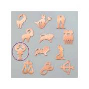 Copper Pendant Cancer Astrological Sign, 24 x 36 mm, Draught Cold Efcolor Enamelling