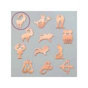 Copper Pendant Capricorn Astrological Sign, 22 x 35 mm, Draught Cold Efcolor Enamelling