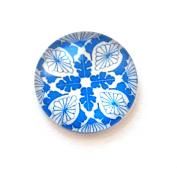 Set of 2 Glass Stones Flower 20 mm