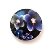 Set of 6 Glass Stones Flower 20 mm