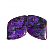 Best Quality Natural South African Sugilite Pair Cabochon, Size 17X14X3 MM, Matched Earring Pair, AG-7453