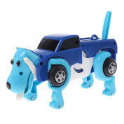 CHONE Transform Robot Dog Car, Wind Up Dog, Cool Automatic Vehicle Clockwork Funny Toy Kids New Year Gift