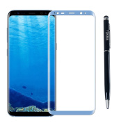 YOKIRIN Galaxy S8 Plus 3D Curved Full Tempered Glass Screen Protector, 100% Full Coverage HD Clear, Anti-Scratch, Anti-Fingerprint, Bubble Free, [3D Touch Compatible] [Edge to Edge] Enhanced Look
