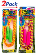 Rainbow 2.1m Jump Rope, Fun Party Favour Bundle Combo Party Gift. 1995