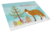 Caroline's Treasures BB9243LCB Red Fox Christmas Chopping Board, Large, Multicolor