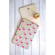 Deny Designs Bouffants Broken Hearts Flamingos and Dots Cutting Board