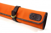 Boldric 7 Pocket DD Hook Tie Canvas Knife Bag, Top Quality Heavy-Duty Portable Chef's Knives Case, Orange, 48cm