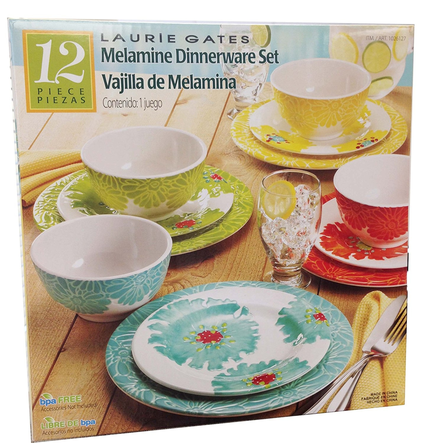 Laurie Gates - 12 Piece Melamine Dinnerware Set by Laurie Gates - Shop Online for Kitchen in Australia & Laurie Gates - 12 Piece Melamine Dinnerware Set by Laurie Gates ...