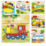 Pu Ran Wooden 3D Animals Puzzle Blocks Cube Jigsaw Baby Kids Education Learning Toy - 1