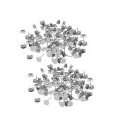 MagiDeal 120 Pairs Wholesale Stud Back Findings Stoppers Ear Pin Butterfly Clip Jewellery Findings Craft