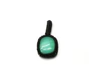 GEM MART EU Macrame Pendent,Aqua Chalce Macrame Pendent,Handmade Natural Gemstone Pendant,Boho Pendant.