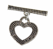 Heart Shaped Toggle 4 Dark Silver Jewellery Findings 20mm Bracelet Chain Clasp Necklace Catch