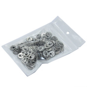 30X Tibetan Silver Gear Charms Bead Watch Parts Steampunk Cogs DIY Jewellery Craft With Self Seal Bag For Scrapbooking Vintage Wedding Decoration