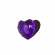 February birthmonth heart - 5mm floating charm fits living memory lockets and keyrings