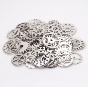 AsentechUK® 100g/Pack Alloy Mechanical Steampunk Cog Wheel Gear DIY Decor Accessories Handmade Jewellery Accessories