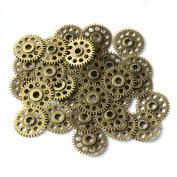 SSEELL 20 Antique Vintage Bronze Steampunk Punk Cogs Gears DIY Jewellery Making Charm