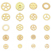 SSEELL Lots of 50 Vintage Gold Watch Parts Steampunk Cyberpunk Cogs Gears Punk DIY Jewellery Craft New