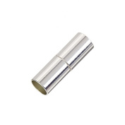 Silver Plated Magnetic Glue In Kumihimo Tube Clasp 6mm