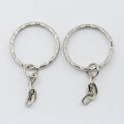 10 x Key Ring & Chain Vintage Style 48mm Findings Tibetan Silver