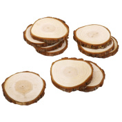 Phenovo Wood Slices for Crafts Wedding Decoration 8-9cm Pack of 10pcs