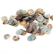 Skyllc® 100 Mother of Pearl MOP Round Shell Buttons Craft 15mm CHIC