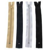 Phenovo Nylon Zippers for Sewing 18cm 4pcs Mixed Colour