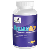 NutriZing's Vision Aid Supplement ~ Special Lutein Complex With Zeaxanthin, Meso-Zeaxanthin, Blueberry Extract & Zinc ~ 60 Capsules ~ Best to Fight AMD and Help Better Eye Sight ~ For Men & Women