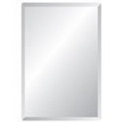 Spancraft Glass Rectangle Bevelled Mirror, 60cm x 90cm