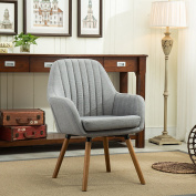 Roundhill Furniture Tuchico Contemporary Fabric Accent Chair, Grey, Chair, Grey