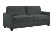 Signature Sleep Casey Velvet Sofa with Memory Foam Mattress, Queen Size - Grey