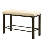Rustic/Country Kesso Industrial Metal Counter Height Bench with Padded Seat Cushion- IDF-3686PBN. Assembly Required