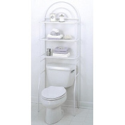 Over The Toilet Space Saver Bathroom Cabinet Shelf Organiser Rack