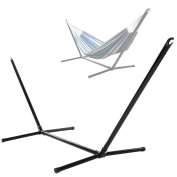 YUEBO Hammock Stand Space Saving Steel Outdoor Patio Portable Heavy Duty Coated, 200kg Capacity