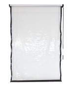 Coolaroo Exterior All Weather Vinyl Roller Shade, 1.2m x 1.8m , Clear