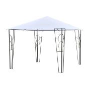 Outsunny 3m x 3m Outdoor Decorative Garden Gazebo Patio Canopy Steel Frame - Cream