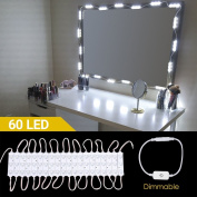 LED Vanity Mirror Lights, TOP-MAX Hollywood Style 19.7ft/6M Make-up Vanity Mirror Light Kit, Lighting Fixture Strip Sets for Bathroom Makeup Dressing Table Mirrors with Touch Dimmer and Power Supply