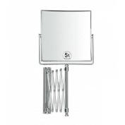 Andrea House ba8018 – Rectangular Extendable Mirror 5 x Magnification 15 x 15 cm