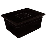 Vogue 1/3 Gastronorm Container 100mm 3.8 Litre Black Catering Food Storage Pan