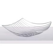 """DESIGN FRUIT BASKET """"PLATEAU""""   34cm , metal, silver coloured   decoration bowl"""