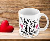 Hiros® Valentines Day Gift Mug , Will you be my valentine - Romantic Couple Gift