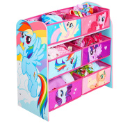 HelloHome My Little Pony Kids' Storage Unit, Wood, Pink, 30 x 63.5 x 60 cm
