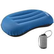 Terra Hiker Inflatable Camping Pillow, Blow-up Pillow, Ultralight Compact Compressible Neck Lumbar Support for Sleeping Hiking Backpacking Travel Flight Beach