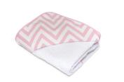 Funny Baby Chevron Bath Cape – With Hood – 80 x 80 cm Pink