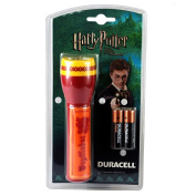 Harry Potter Gryffindor House Child's Duracell Torch & AA Battery Set - AA Batteries Supplied - Suitable for Children 4 years and older.
