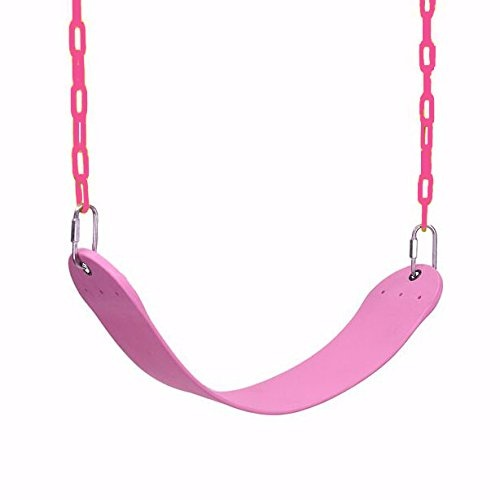 Take Me Away Pink Swing Seat Heavy Duty Chain Plastic Coated
