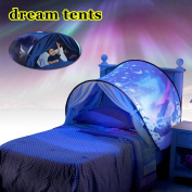 Dream Tents Space Adventure, Kids Pop Up Bed Tent Magical Dream Tent Fairy Playhouse Play Tent Mosquito Net Bedroom Festival Decoration Tent