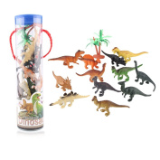 12 Pcs Novelty Jurassic Park Toy Plastic Mini Dinosaurs Model Toys for Boys and Girls